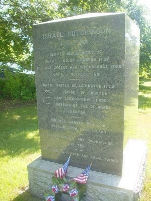 Israel Hutchinson Marker Photo, Click for full size