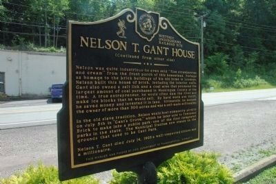 Nelson T. Gant House Marker (Back Side) image. Click for full size.