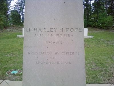 Lt. Harley H. Pope Marker image. Click for full size.