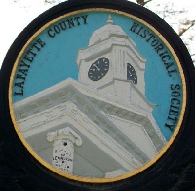 Lafayette County Historical Society Logo on Marker image. Click for full size.