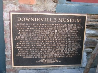 Downieville Museum Marker image. Click for full size.