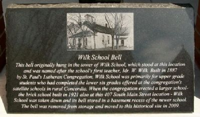 Wilk School Bell Marker image. Click for full size.