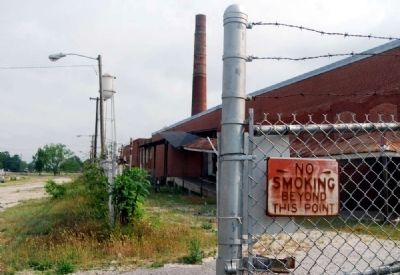 "Faded ""No Smoking"" Sign at Jackson Mill image. Click for full size."