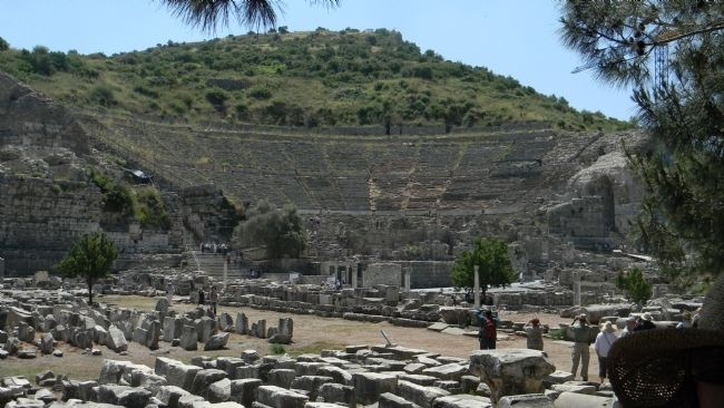 The Great Ephesus Theatre on the slope of Panayir Hill image. Click for full size.