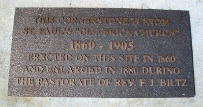 St. Paul's Lutheran Church Cornerstone Marker image. Click for full size.