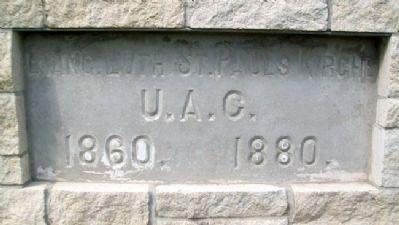 St. Paul's Lutheran Church Cornerstone image. Click for full size.