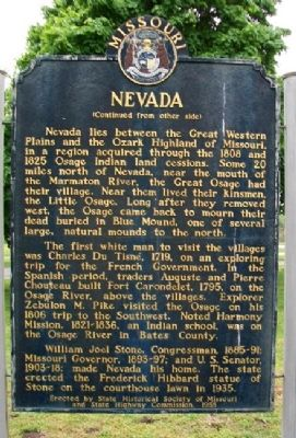 Nevada Marker (Side B) image. Click for full size.