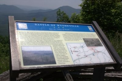 Battle of Wytheville Marker Photo, Click for full size
