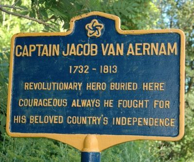 Captain Jacob Van Aernam Marker image. Click for full size.