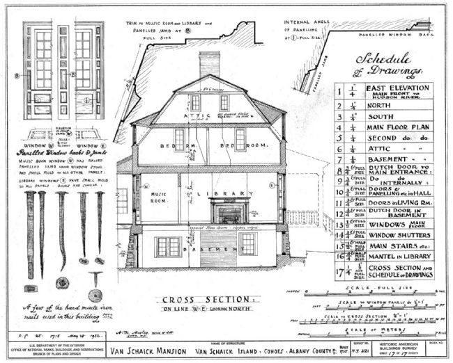 Van Schaick Mansion Drawing Photo, Click for full size