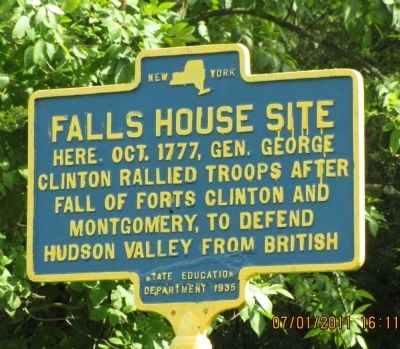 Falls House Site Marker image. Click for full size.
