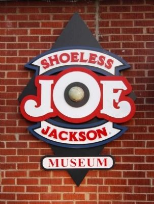 """Shoeless Joe"" Jackson House Sign image. Click for full size."