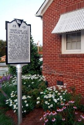 """Shoeless Joe"" Jackson House Marker image. Click for full size."