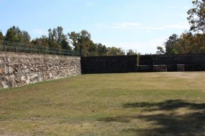 The Augusta Canal Headgate Locks Retaining Walls image. Click for full size.