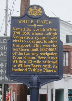 White Haven Marker image. Click for full size.