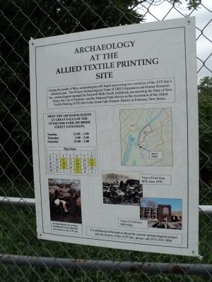 Archaeology at the Allied Textile Printing Site image. Click for full size.