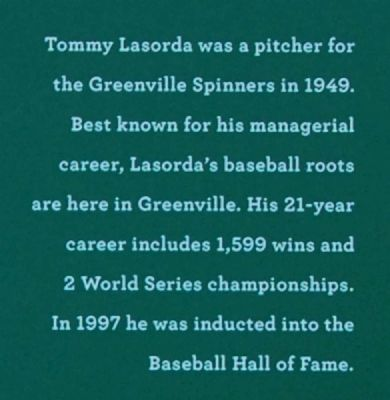 Tommy Lasorda Marker image. Click for full size.