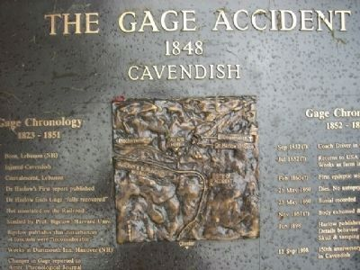 The Gage Accident Marker image. Click for full size.