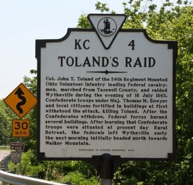 Toland�s Raid Marker Photo, Click for full size