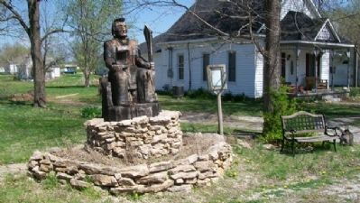 Osage Chieftain and Marker image. Click for full size.