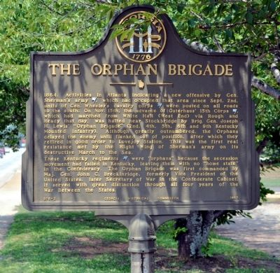 The Orphan Brigade Marker image. Click for full size.
