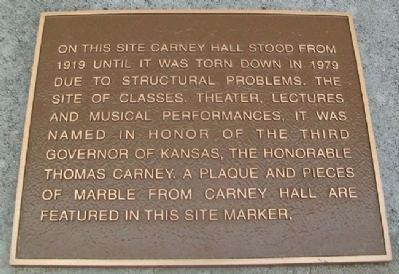 Carney Hall Marker image. Click for full size.
