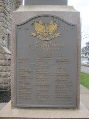 Honor Roll of St. Joseph's Parish Marker image. Click for full size.