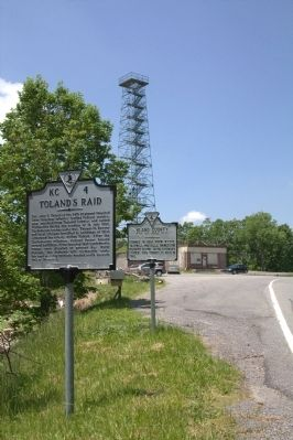 Toland�s Raid and County Line Markers Photo, Click for full size