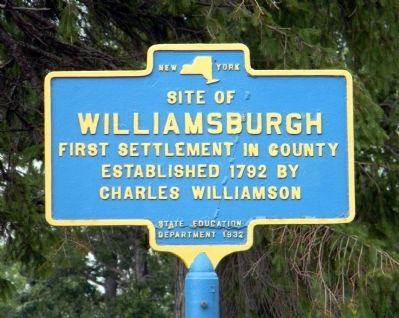 Williamsburgh Marker Photo, Click for full size