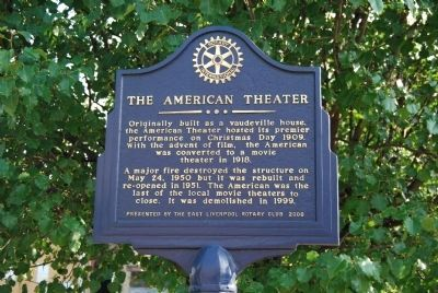 The American Theater Marker image. Click for full size.