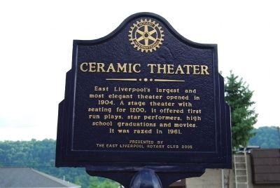 Ceramic Theater Marker image. Click for full size.