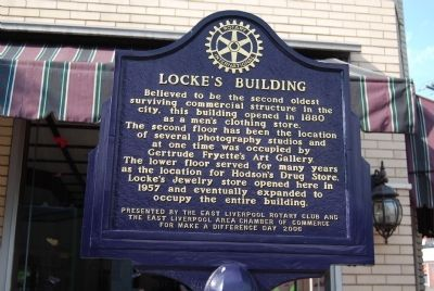 Locke's Building Marker image. Click for full size.