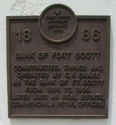 Bank of Fort Scott Marker image. Click for full size.