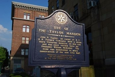 Site of The Taylor Mansion Marker image. Click for full size.