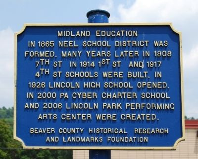 Midland Education Marker image. Click for full size.