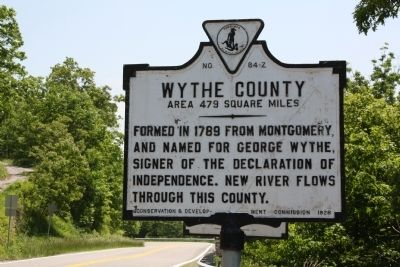 Wythe County Face of Marker image. Click for full size.