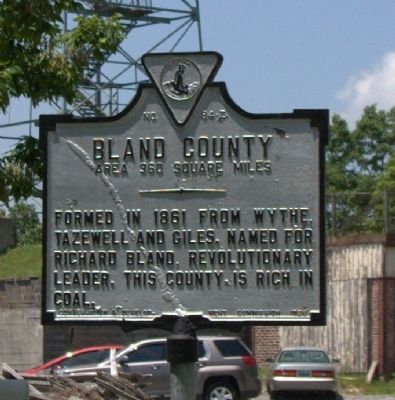 Bland County Face of Marker image. Click for full size.