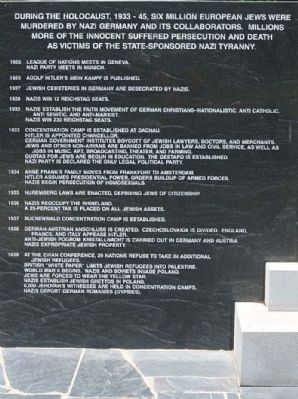 The Columbia Holocaust Memorial Monument left panel image. Click for full size.