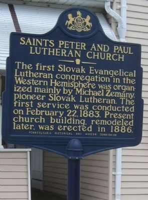Saints Peter and Paul Lutheran Church Marker image. Click for full size.