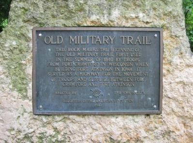 Old Military Trail Marker image. Click for full size.