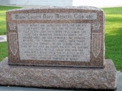 Miami County Navy Mothers Club 402 Marker image. Click for full size.