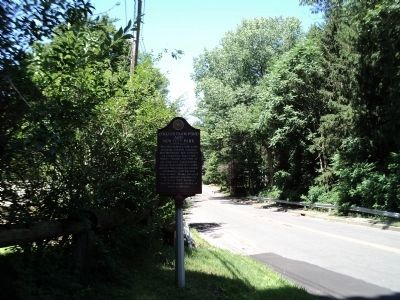 Marker on Collyer Avenue image. Click for full size.