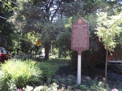 Marker on Dr Davies Road image. Click for full size.