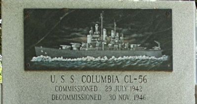 USS Columbia CL-56 Photo, Click for full size