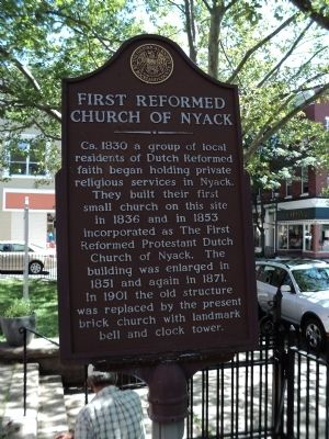 First Reformed Church of Nyack Marker image. Click for full size.