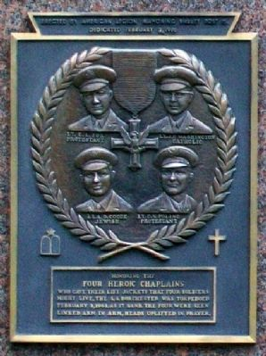 Four Heroic Chaplains Marker image. Click for full size.