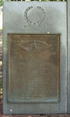 USS Columbia CL-56 Memorial, front left plaque Photo, Click for full size