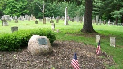 Old Cemetery and Marker image. Click for full size.