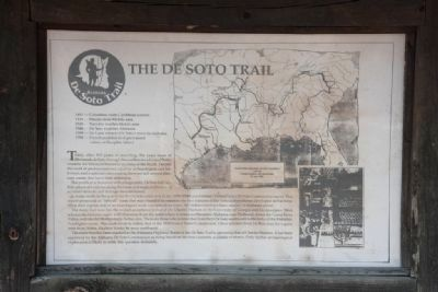 The De Soto Trail Marker Photo, Click for full size