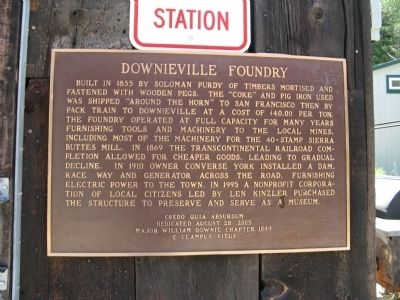 Downieville Foundry Marker image. Click for full size.